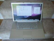 "Apple PowerBook G4 17"" Laptop A1107 1.67Ghz 1Gbram 100Gbhd GoodBattry - Pls Read"