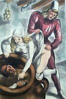 BERTHOMME SAINT-ANDRE :  La coquine joueuse - EAU FORTE, 1931, 346 exemplaires