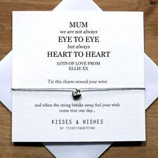 Personalised Handmade Heart To Heart Birthday Wish Bracelet - Her, Mum, Sister