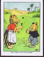 Mother & Child Lions Playing Cup & Ball Wood Print 1910
