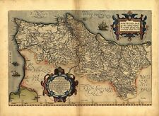 Large A1 Old Abraham Ortelius Portugal República Portuguesa Iberia Antique Map