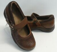 Womens Dansko Brown Leather Mary Jane comfort flats Shoes Size 8 US 38 EUR