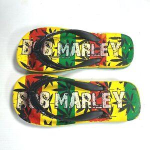 BOB MARLEY by Teen Spirit FLIP FLOPS or SCANDALS Rastafarian Reefer KIDS SIZE 7