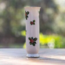 """Lefton China 7942 Holly Bud Vase 6 3/8"""""""