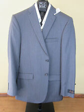 $650 New Jos A Bank JOSEPH grey stripe pattern suit 40 L 34 W Slim fit