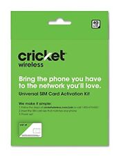 Cricket BYOD 2.0 Wireless 3-in-1 SIM Card Kit - Prepaid Universal Activation NEW