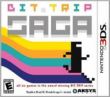 Bit.Trip Saga [Nintendo 3DS Aksys Games 6 Classic 8 Bit Retro Rhythm Platformer]