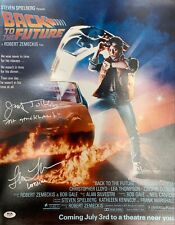 Lea Thompson James Tolkan autographed signed 16x20 photo Back To The Future PSA