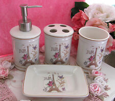 Paris French Provincial 'Eiffel Tower' Ceramic Bathroom 4 Piece Set