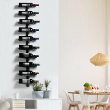 Porte Bouteille mural étagère à Vin verticale métalique artisan style acrustique