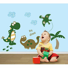 New Cartoon Dinosaur Tree Wall Sticker Decal Kindergarten Room Home Decor Paster
