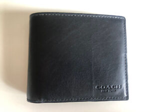 Coach Men's Black Leather Wallet Brand New