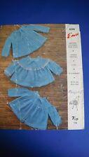 Emu Kids Matinee Coats Knitting pattern 8370