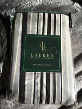NEW RALPH LAUREN MONTECITO STRIPE EURO SHAM(1) (3AVAIL) ~ BLACK WHITE CLASSIC