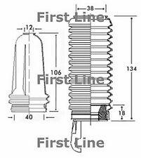 FSG3225 FIRST LINE STEERING GAITER KIT fits Citroen Saxo - manual