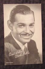 Vintage Exhibit Penny Arcade Promo Card FVF Actor - Clark Gable