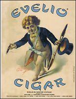 1997 Evelio Cigars Evelio & Nestor vintage top hat retro photo print ad ads40