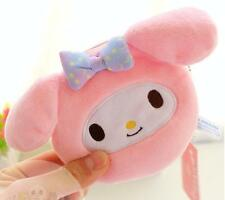 Cute For My Melody Plush Plush Change Purse Wallet Coin Bag Card Holder Pendant