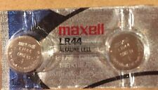 2 Maxell Hologram LR44 A76 L1154 AG13 357 303 Button Cell Batteries-USA SELLER
