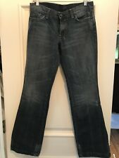 SEVEN FOR ALL MANKIND Stove Pipe Wide Leg Jeans 31