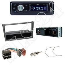 Caliber RMD021 Autoradio + Opel Vivaro Combo Blende metallic + ISO Adapter Set