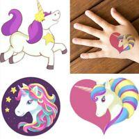 6 Kids Unicorn Pony Rainbow Temporary Tattoos Children Party Favor Supplies