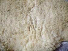 More details for antique genuine sheepskin hide rug cream