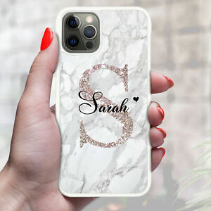 Personalised Marble Phone Case For iPhone 13 12 11 8 7 6 XR X XS PRO - Ref 06