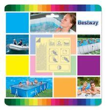 BESTWAY 62091 Kit riparazione piscina 10 toppe adesive 6.5x6.5cm