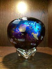 Joe Mattson Wheaton Arts Studio Iridescent Art Glass Vase Signed