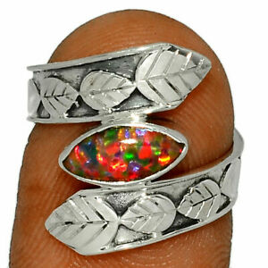 Fire Opal 925 Sterling Silver Ring Jewelry s.6 BR39847 297G