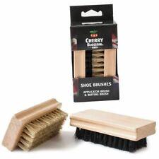 Cherry Blossom Twin Brush Shoe Polish Great Quality Care Polishing & Buffing Set