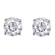 IGI Certified 1 Ct Round Diamond Studs Earring 14k White Gold