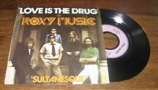 ROXY MUSIC - Love Is The Drug Rare French PS 7' Pink Island Glam Rock 75'