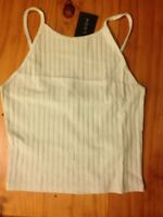 Ladies New Look Size 10 Crop Top Vest Pale Green BNWT New with tags Ribbed