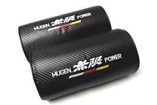 2Pcs Mugen Power Carbon Fiber & Embroidery Car Seat Neck Cushion Pillow Headrest