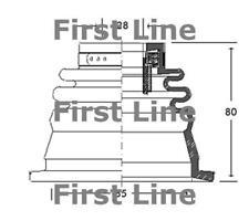 CV JOINT BOOT KIT FOR RENAULT SAFRANE FCB2650