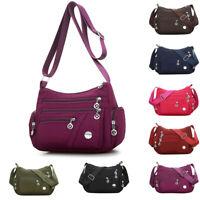 Women Fashion Nylon Messenger Single Shoulder Crossbody Bag Zip Waterproof Bags