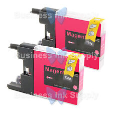 2 MAGENTA LC71 LC75 NON-OEM Ink for BROTHER MFC-J430W LC-71 LC-75 LC71M LC75M