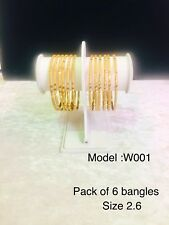 Gold Plated Indian Bangles Bollywood Style Traditional 6 Pc Chudi Cheapest Price