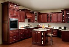 All Solid Maple Wood KITCHEN CABINETS 10x10 RTA JSI Georgetown Cherry Stained