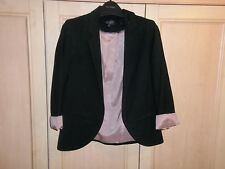 TOPSHOP BLACK 3/4 ROLLED SLEEVE BLAZER SIZE 6 RRP £65!