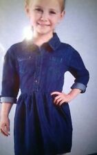 Girl's Denim Dress 9-10 Years Dark Blue 100% Cotton High Quality machine washabl