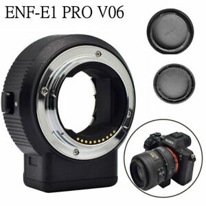 DHL Commlite CM-ENF-E1 PRO V08 Focus Lens Adapter f Nikon F Lens to Sony E-mount