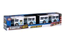 """Teamsterz Large 17"""" Flexi White Bendy Bus with Lights & Sounds Kids Toy Vehicle"""