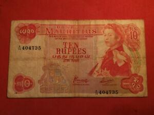 Ile Maurice / Mauritius 10 Rupees Queen Elizabeth II 1967 Pick 31c - tb+ !
