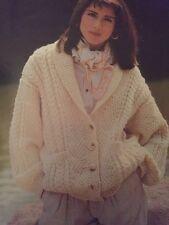 "FF2 - Knitting Pattern - an Attractive ARAN Cardigan / Jacket  -Sizes 32-42"""