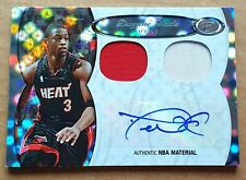 2006-07 Bowman Elevation DIRECTORS DUAL PATCHES AUTO SILVER HOLO 2/5 Dwyane Wade