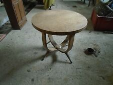 Table de salon ancienne art déco, table art déco chêne, table ronde art déco