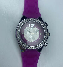 E TechnoMarine Swiss WR100M Diving Sport Ladies Purple TMNC P07114924 Working